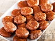 Рецепта Бързи и лесни орехови сладки за десерт с какао за десерт без печене